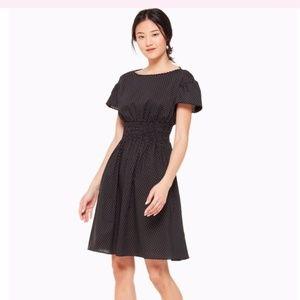 Kate Spade Pin Polka Dot Scallop Poplin Mini Dress